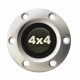 Volante S6 Series Horn Button Kit, 4x4, Brushed