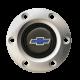 Volante S6 Series Horn Button Kit, Blue Bowtie, Brushed