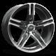 CARROLL SHELBY WHEELS SHELBY CS14 20x9.5HYPER SILVER Wheel CS14-295430-CP