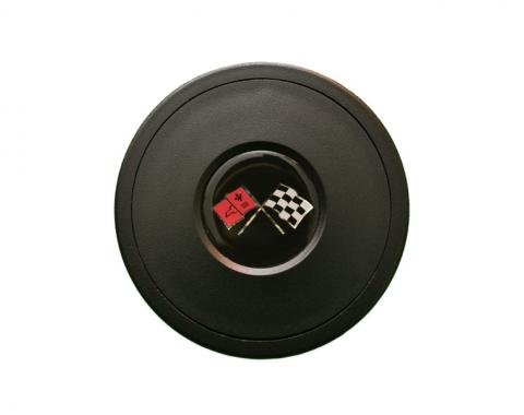 Volante S9 Series Horn Button Kit, Cross Flags