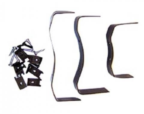 Nova Console Mounting Bracket Kit, for Cars with Manual Transmission, 1966-1967