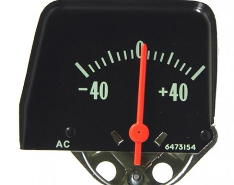 Nova Battery Gauge, Console, Black, 1968-1974
