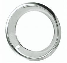 Redline Restomotive® 15 x 7 Deep Dish Chrome Plated Stainless Steel Trim Ring, with Flat Edge, Set of Four