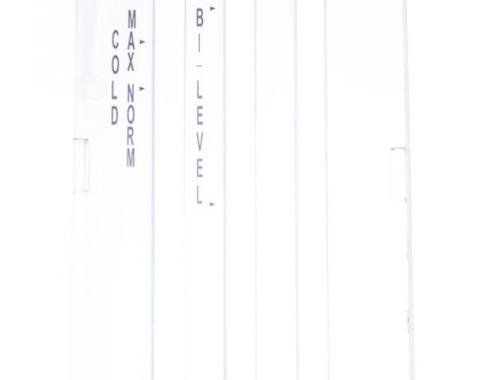 Classic Headquarters Heater Control Lens with A/C, White, 69 Camaro; 69-74 Nova R-496