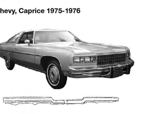 Caprice Rear Bumper Filler, 1975-1976