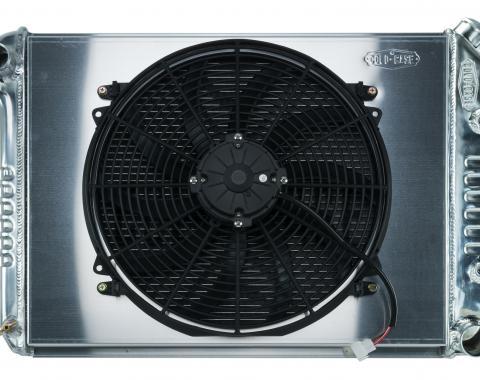 Cold Case Radiators 68-79 Nova BB Aluminum Performance Radiator And 16 Inch Fan Kit AT CHN548AK