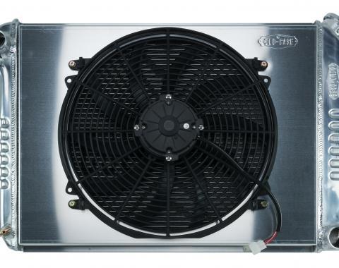 Cold Case Radiators 68-79 Nova BB Aluminum Performance Radiator And 16 Inch Fan Kit MT CHN548K