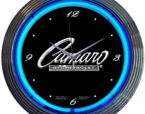 Neonetics Neon Clocks, Gm Camaro Script Neon Clock