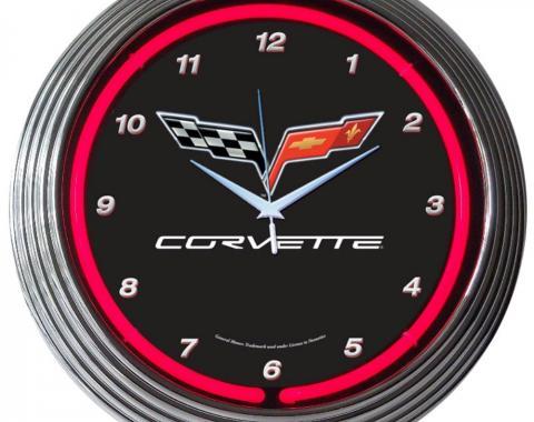 Neonetics Neon Clocks, Corvette C6 Neon Clock