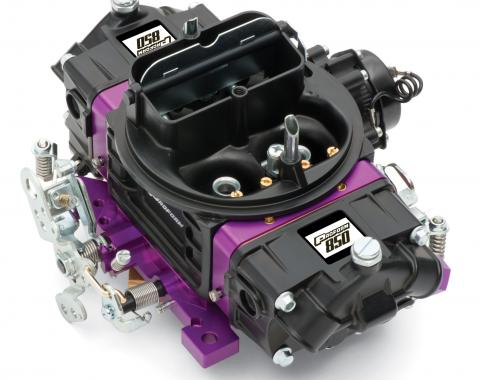 Proform Black Street Series Carburetor, 850 CFM, Mechanical Secondary, Black & Purple 67314