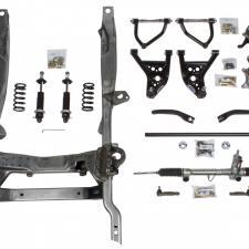Detroit Speed Hydroformed Subframe 67-69 Camaro/Firebird 68-74 Nova Bare Unassembled - SBC/LS Double Adjustable Shock 032001-D
