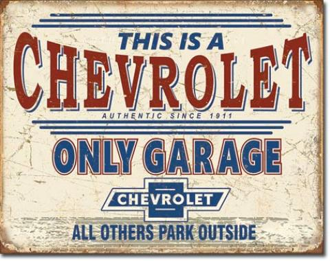 Tin Sign, Chevy Only Garage