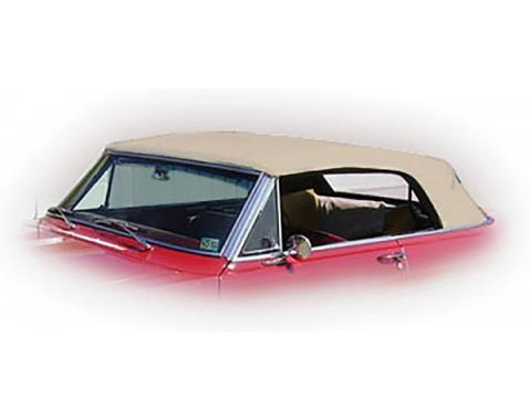 Nova Chevy II Convertible Top With Fixed Plastic Window, Cloth, 1962-1963