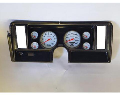 Nova Classic Dash Complete Six Gauge Panel With 5''  Autometer Gauges Phantom Electric Gauges, 1969-1976
