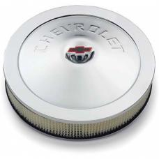 Nova Air Cleaner Assembly, Open Element, 14, Chrome, With Chevrolet Word, 1962-1979