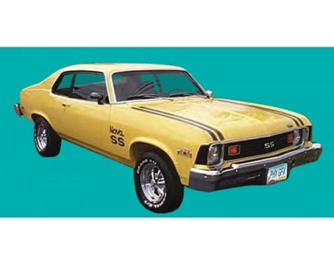 Nova Stripe Kit, Super Sport, Hatchback, 1974