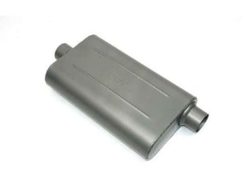Nova Muffler, 2.25'', Center/Offset, Edelbrock, 1964-1972