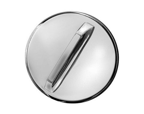 Nova Or Chevy II Gas Cap, Chrome 1965-1967