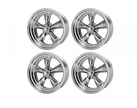 Chevy American Racing Torq Thrust II Wheel Set, Polished Aluminum, 15X7