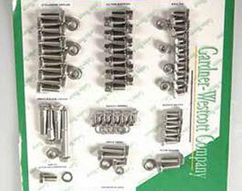 Nova Engine Bolt Kit, Small Block, Stainless Steel, For Cars With Exhaust Headers, 1967-1969