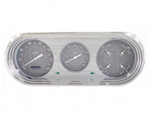 Nova And Chevy II Classic Instruments SG Series Analog Gauge Kit, Gray Face With White Pointers, 1963-1965