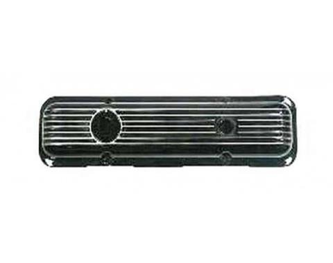 Nova Valve Cover, Black Aluminum, Left, 1962-1979