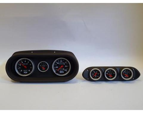 Nova Classic Dash Complete Six Gauge Panel With Sport Comp Autometer Gauges, 1962-1965