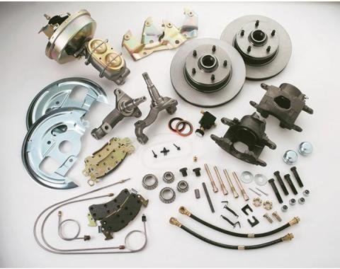 Nova Brake Conversion Kit, Power, Drum To Disc, Single Piston Caliper, Includes New Disc Brake Spindles, 1968-1974