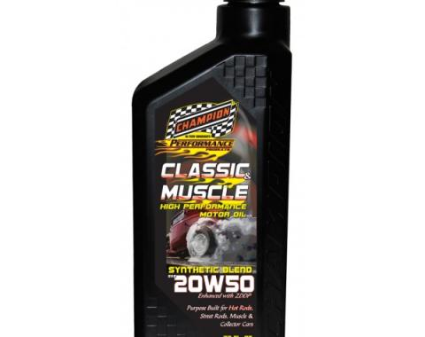 Champion Classic & Muscle High Zinc Synthetic Blend Motor Oil, 20W-50
