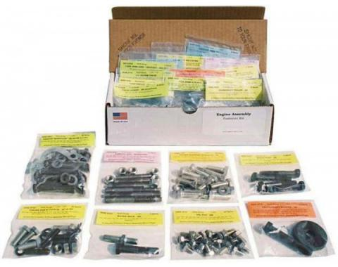 Master Engine Bolt Kit,327ci, For Cars Without Air Conditioning, 1967-1968