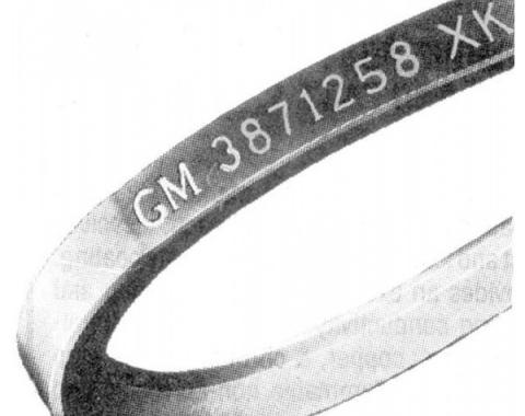 Nova And Chevy II Generator Belt, V8, With Air Conditioning,Except 327 With 350 Horsepower, 1966