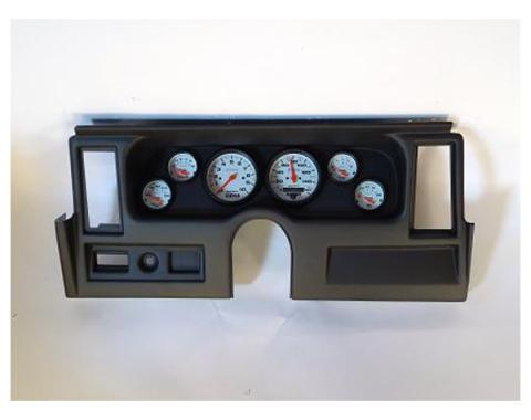 Nova Classic Dash Complete Six Gauge Panel, With Autometer Phantom Electric Gauges, 1977-1979