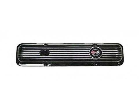 Nova Valve Cover, Black Aluminum, Right, 1962-1979