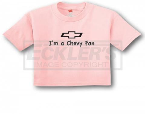 "Light Pink ""I'm A Chevy Fan"" Infant Tee"