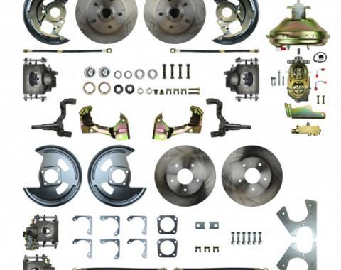 "67-9 4-Wheel Disc Brake Conversion, 11""  Booster, Staggered Rear Shocks"