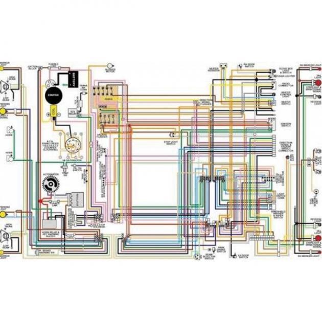 Nova Color Laminated Wiring Diagram  1962