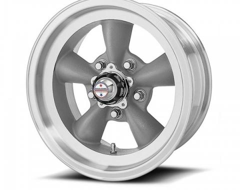 American Racing Torq-Thrust D Black Wheel W/ Machine Lip, 16X8
