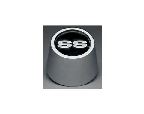 Nova Super Sport (SS) Wheel Center Ornament With SS Emblem Insert, Chrome, 1967-1974