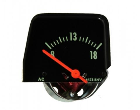 Chevy II Or Nova Console Volt Gauge, Black, 1968-1974