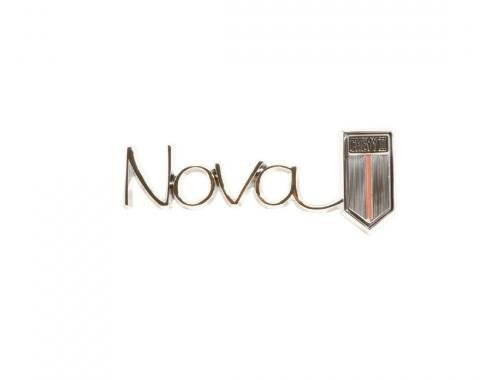 Trim Parts 67 Chevy II and Nova Lower Dash Emblem, Nova/ Chevy II, Each 3045