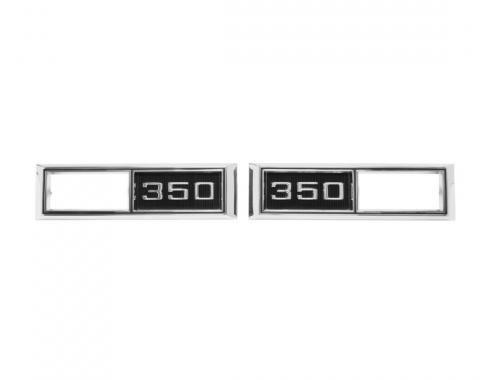 Trim Parts 68 Full-Size Chevrolet, Chevelle, Nova, and El Camino Front Marker Light Bezel, 350, Pair 4522