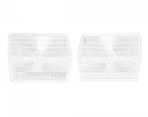 Trim Parts 65 Chevy II and Nova Back Up Light Lens, Pair A3051