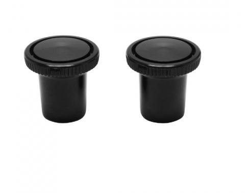 Trim Parts 63-78 Full-Size Chevrolet Black Vent Pull Knobs, 2 pieces, Pair 4561