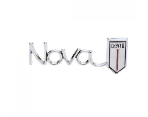 Trim Parts 66 Chevrolet I and Nova Glove Box Door Emblem, Nova/Chevy II, Each 3039