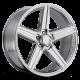 REV Wheels IROC 18X8 Chrome Wheel 652C-8834