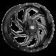 REV Wheels REV 20X12 MILLED GLOSS BLK Wheel 895M-2123544