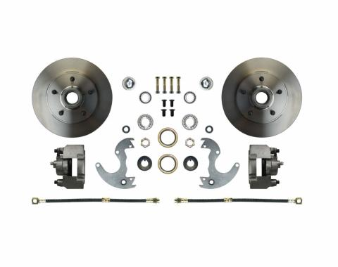 Right Stuff EZ Fit Front Disc Brake Wheel Kit with Standard Rotors for 64-72 A-Body, 67-69 F-Body and 64-74 Chevy II/Nova. AFXWK14