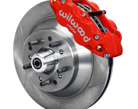 Wilwood Brakes Forged Narrow Superlite 6R Big Brake Front Brake Kit (Hub and 1PC Rotor) 140-12278-R