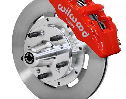 Wilwood Brakes Forged Dynapro 6 Big Brake Front Brake Kit (Hub) 140-12836-R