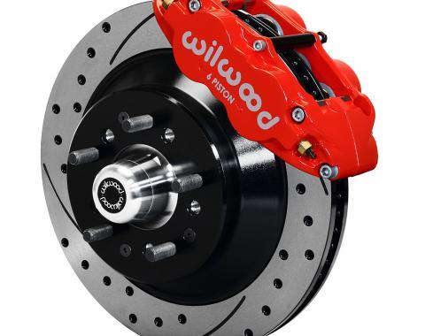 Wilwood Brakes Forged Narrow Superlite 6R Big Brake Front Brake Kit (Hub and 1PC Rotor) 140-12280-DR